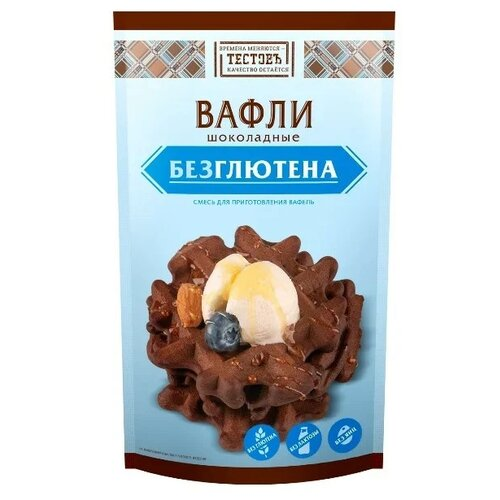 цена на ТЕСТОВЪ Смесь для выпечки Вафли Шоколадные безглютеновая, 0.2 кг