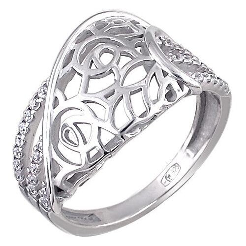 Эстет Кольцо с 32 фианитами из серебра 01К1510634, размер 18 ЭСТЕТ