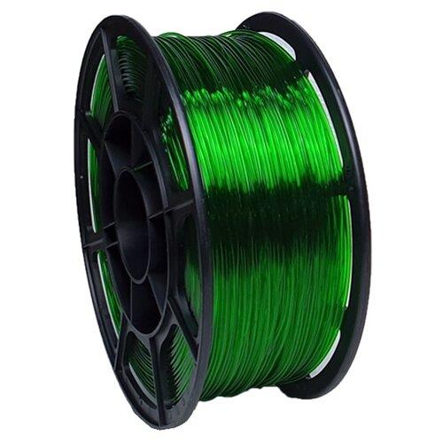 PETG пруток НИТ 1.75 мм зеленый прозрачный 1 кг