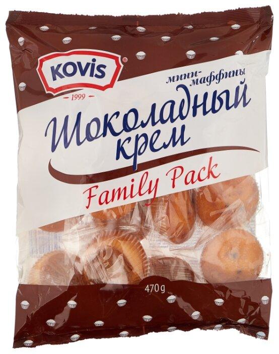 Мини-маффин KOVIS с начинкой шоколадный крем (16 шт.)