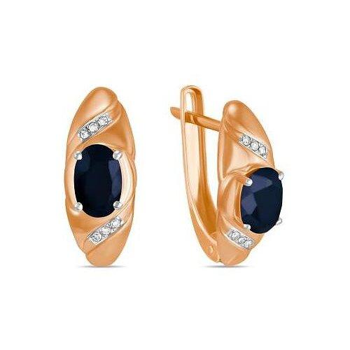 ЛУКАС Серьги с сапфирами и бриллиантами из красного золота E01-D-70653E001-R17 серьги из золота e01 d e59474 cp