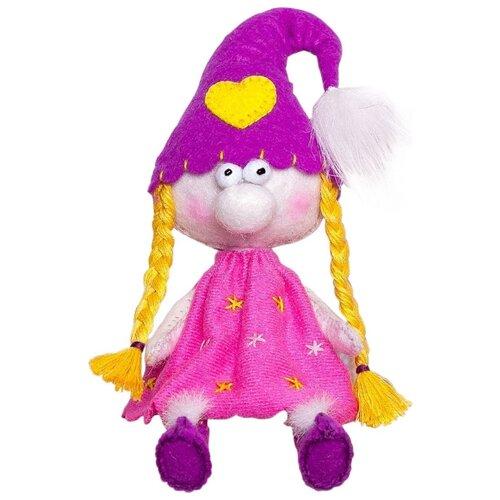 Купить Перловка Набор для создания текстильной игрушки из фетра Гномочка (ПФГ-1555), Изготовление кукол и игрушек