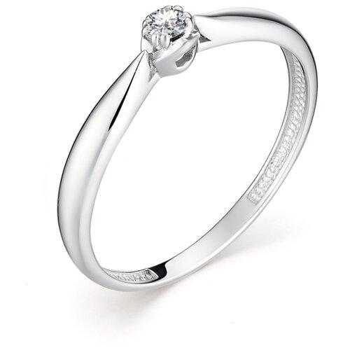 АЛЬКОР Кольцо с 1 бриллиантом из белого золота 12893-200, размер 17 алькор кольцо с 1 бриллиантом из белого золота 13299 200 размер 17