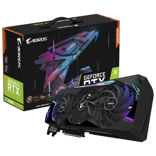 Видеокарта GIGABYTE AORUS GeForce RTX 3090 MASTER 24G (GV-N3090AORUS M-24GD) Retail