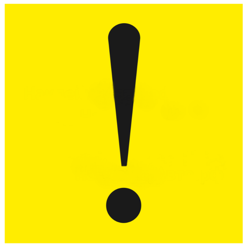 Предупреждающая наклейка Промтехнологии Знак-наклейка Начинающий водитель на машину (857) желтый/черный 1 шт.