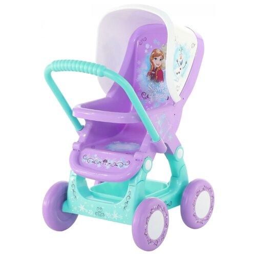Купить Прогулочная коляска Полесье Disney Холодное сердце 70791 фиолетовый/голубой, Коляски для кукол