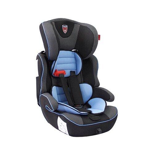 Автокресло группа 1/2/3 (9-36 кг) Vixen Лазурит 1-2-3, серый/голубой автокресло группа 1 2 3 9 36 кг little car ally с перфорацией черный