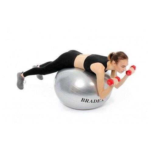 Фото - Мяч для фитнеса антивзрыв с насосом, 65 см (арт. SF 0379) мяч для фитнеса bradex фитбол 75 с насосом sf 0187