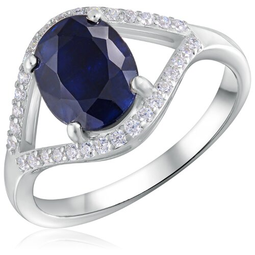 Бронницкий Ювелир Кольцо из серебра R-DRGR00620-SP, размер 17 серебряное кольцо с корундом r drgr00620 sp
