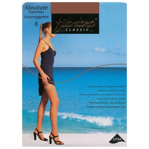 Чулки Filodoro Classic Absolute Summer 8 den, размер 4-L, nero (черный) чулки filodoro classic afrodite 30 den размер 4 l nero черный
