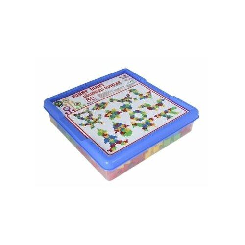 Конструктор pilsan Funny Blocks 03-259 80 деталей, Конструкторы  - купить со скидкой