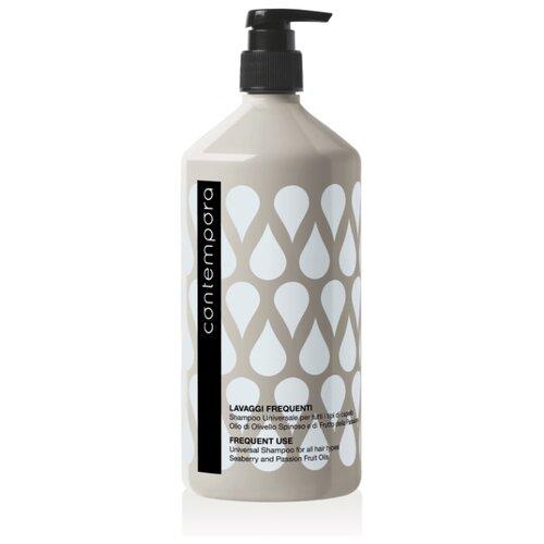 Barex шампунь Contempora Frequent Use Universal For All Hair Types универсальный для всех типов волос с маслом облепихи и маслом маракуйи 1000 мл с дозатором