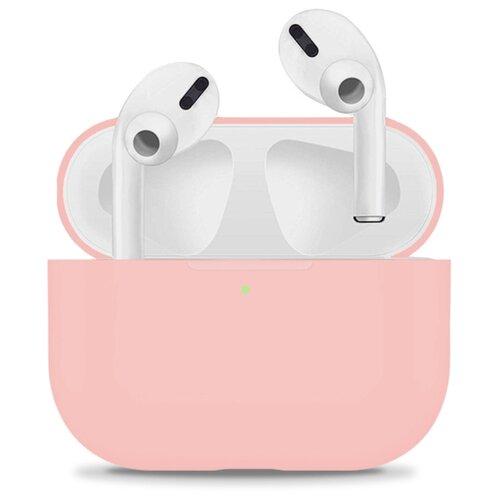 Защитный чехол для Apple AirPods Pro / Силиконовый чехол на Аирподс Про с карабином / Тонкий чехол для беспроводных Bluetooth блютуз наушников (Sky Blue) чехол