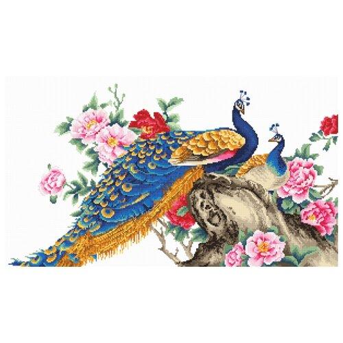 Купить Набор для вышивания, Два павлина, Luca-S 42 х 24, 5 см B460, Наборы для вышивания