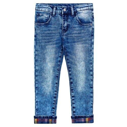 Джинсы playToday размер 104, синий джинсы playtoday playtoday mp002xb00a99
