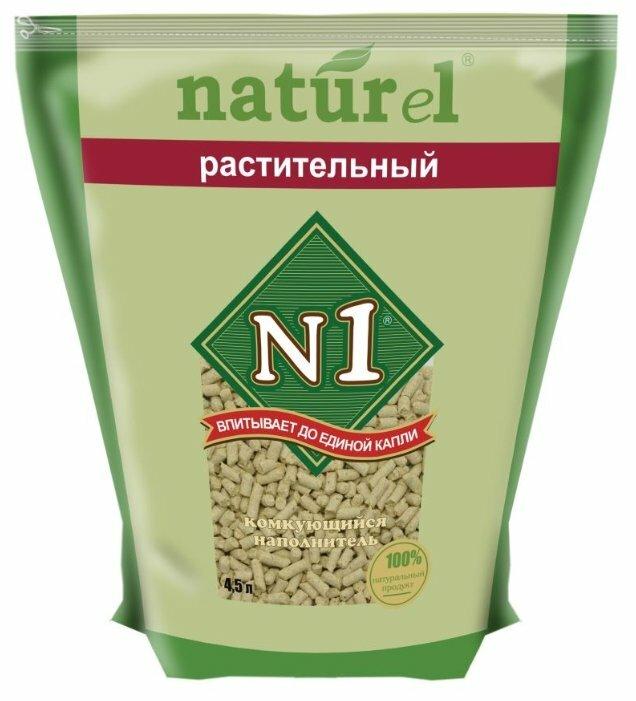 Комкующийся наполнитель N1 Naturel Растительный 4.5 л