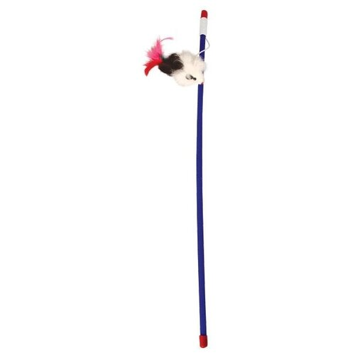 Игрушка для кошек Triol Удочка Мышка (B002/22121001) черный/белый