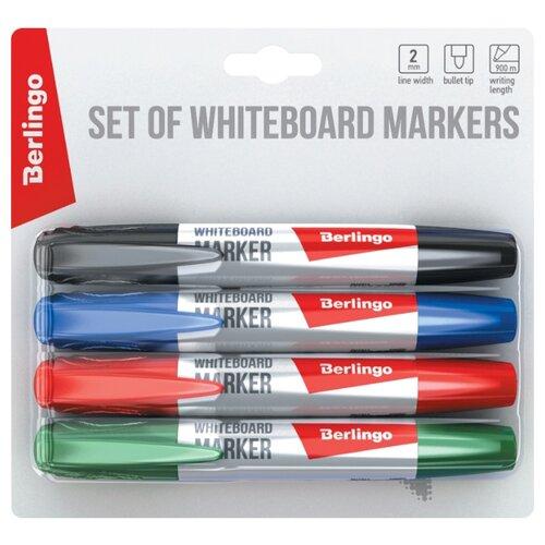 Фото - Berlingo Набор маркеров для досок, 4 шт. (BMc_40509) berlingo набор маркеров для досок 4 шт bmc_40509
