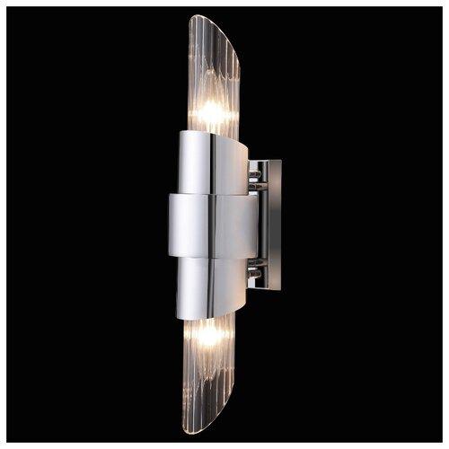 Настенный светильник Crystal Lux Justo AP2 Chrome, 120 Вт бра crystal lux solaris ap2 chrome
