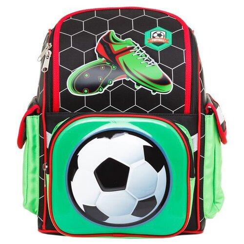 Hatber Рюкзак Comfort school Футбол (NRk_33066), черный/зеленый/красный значок зеленый футбол