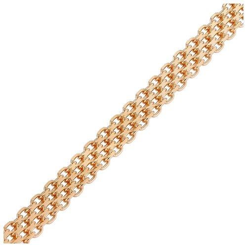 АДАМАС Цепь из золота плетения Бисмарк четверной ЦБ4Я135А2-А51, 40 см, 6.95 г
