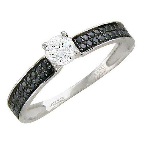 Эстет Кольцо с 49 фианитами из белого золота 01К225356-1, размер 18 эстет кольцо с 19 фианитами из белого золота 01к2210883 1 размер 18