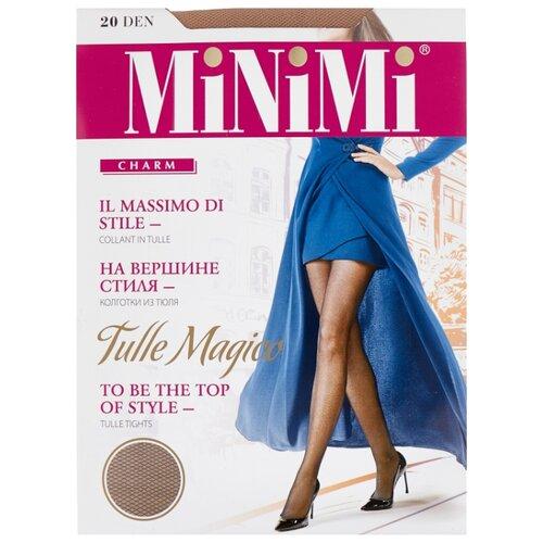 Колготки MiNiMi Tulle Magico 20 den, размер 1/2-S, caramello (бежевый) колготки minimi tulle magico 20 den размер 3 m daino бежевый