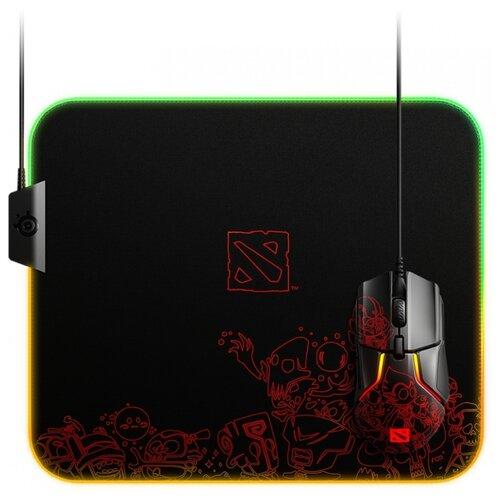 Коврик для мыши Steelseries QcK Prism Cloth Dota 2 Editiion рисунок/черный