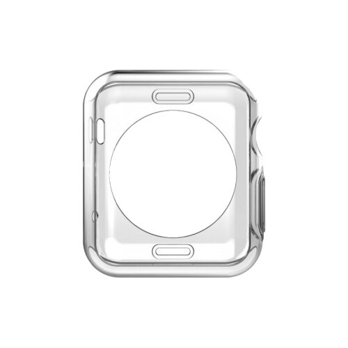 Чехол EVA силиконовый для Apple Watch 42mm прозрачный