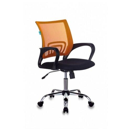 Компьютерное кресло Бюрократ CH-695N/SL офисное, обивка: текстиль, цвет: оранжевый/черный