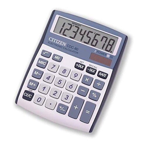 Калькулятор CITIZEN CDC-80 серебристый