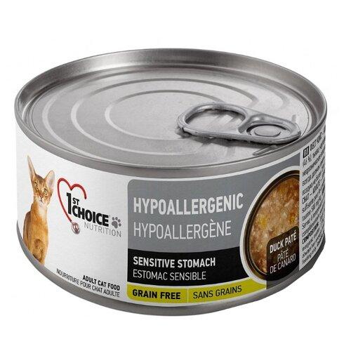 Влажный корм для кошек 1st Choice с уткой 85 г (паштет)