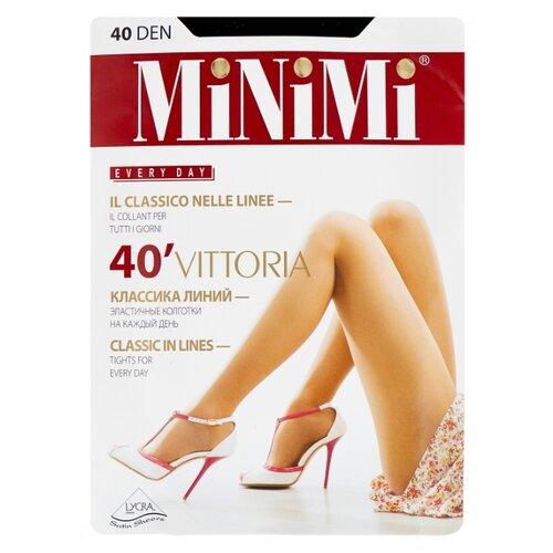 Колготки MiNiMi Vittoria 40 den, размер 4-L, nero (черный) колготки minimi vittoria 40 den размер 4 l nero черный