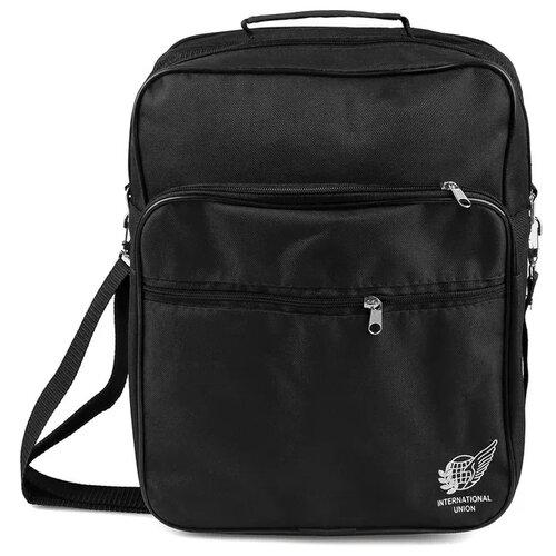Сумка Омскшвейгалантерея Имидж-1, текстиль, черный сумка дорожная омскшвейгалантерея баул 2 черный