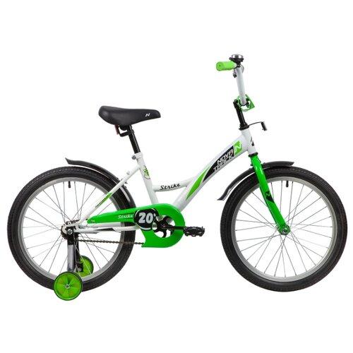 Детский велосипед Novatrack Strike 20 (2020) белый/зеленый (требует финальной сборки)