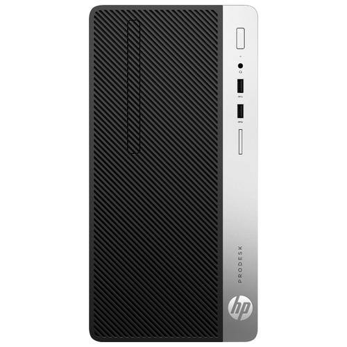 Настольный компьютер HP ProDesk 400 G5 MT (4HR93EA) Micro-Tower/Intel Core i3-8100/4 ГБ/1 ТБ HDD/Intel HD Graphics 630/Windows 10 Pro черный/серебристый