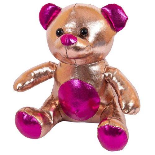 Купить Мягкая игрушка ABtoys Металлик Медведь коричневый 18 см, Мягкие игрушки