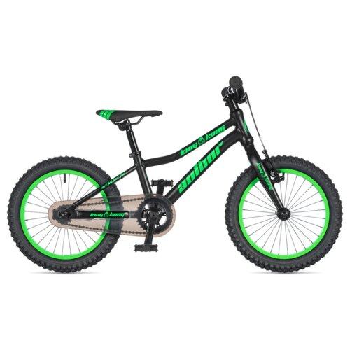 Детский велосипед Author King Kong 16 (2020) black-matt/green-neon 9 (требует финальной сборки) дорожный велосипед author