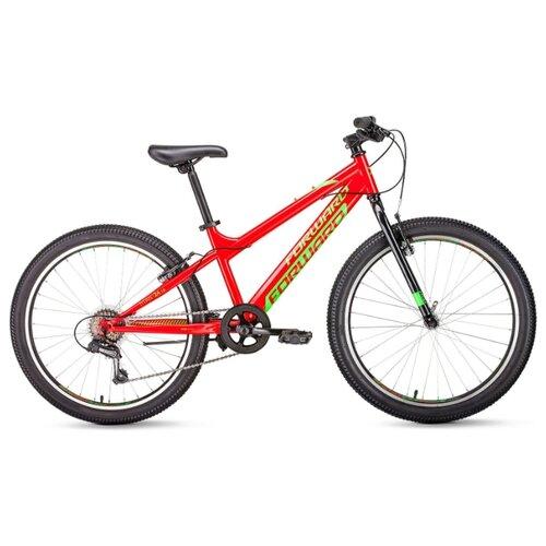 Подростковый горный (MTB) велосипед FORWARD Titan 24 1.0 (2020) красный 13 (требует финальной сборки) подростковый горный mtb велосипед forward dakota 24 1 0 2020 черный 13 требует финальной сборки
