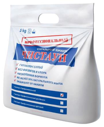 Купить Стиральный порошок Чистаун Профессиональный, пластиковый пакет, 5 кг по низкой цене с доставкой из Яндекс.Маркета