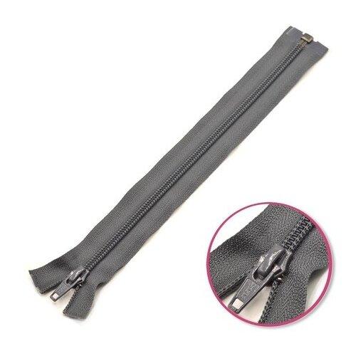Купить YKK Молния витая разъёмная 0004706/55, 55 см, асфальтно-серый/асфальтно-серый, Молнии и замки