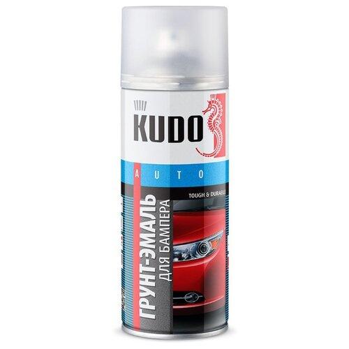 KUDO аэрозольная Грунт-эмаль для бампера 520 мл графит