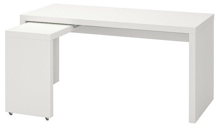 Письменный стол IKEA Мальм с выдвижной панелью — где купить по выгодной цене на Яндекс.Маркете
