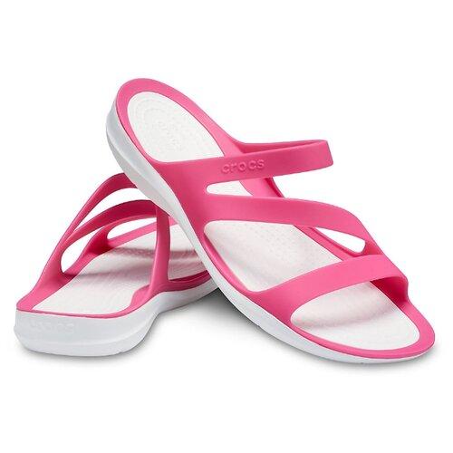 Шлепанцы Crocs Swiftwater Sandal, размер 35(W5), paradise pink/white