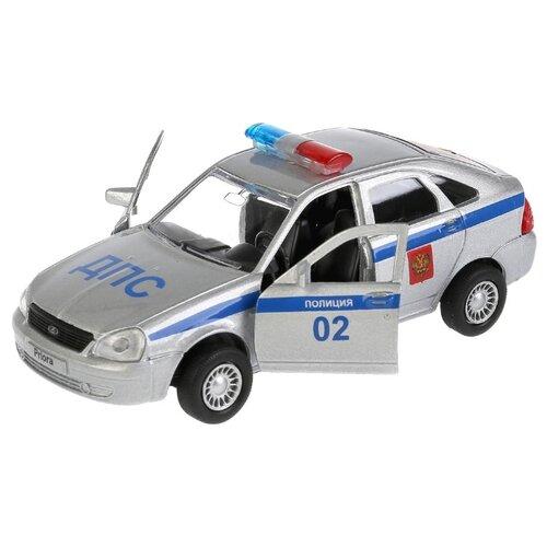 Купить Легковой автомобиль ТЕХНОПАРК Lada Priora хэтчбек (SB-18-22-LP(P)WB) 1:35 12 см серебристый, Машинки и техника
