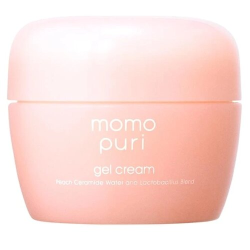 Momo puri Gel Cream Peach ceramide water and lactobacillus blend Крем-гель для лица с лактобактериями и керамидами, 80 г chi luxury black seed oil curl defining cream gel