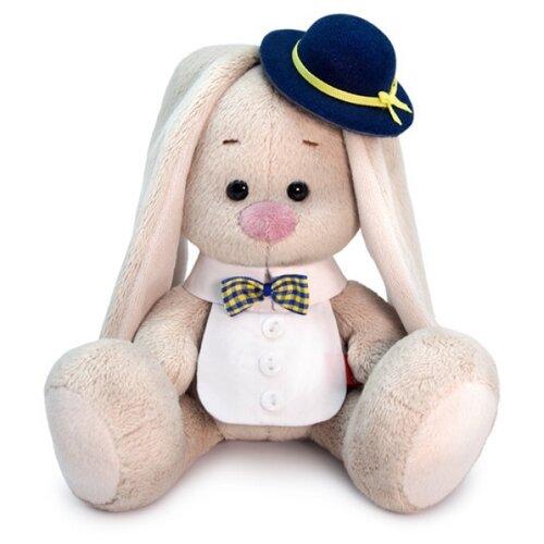Купить Мягкая игрушка Зайка Ми в котелке и манишке 15 см, Мягкие игрушки