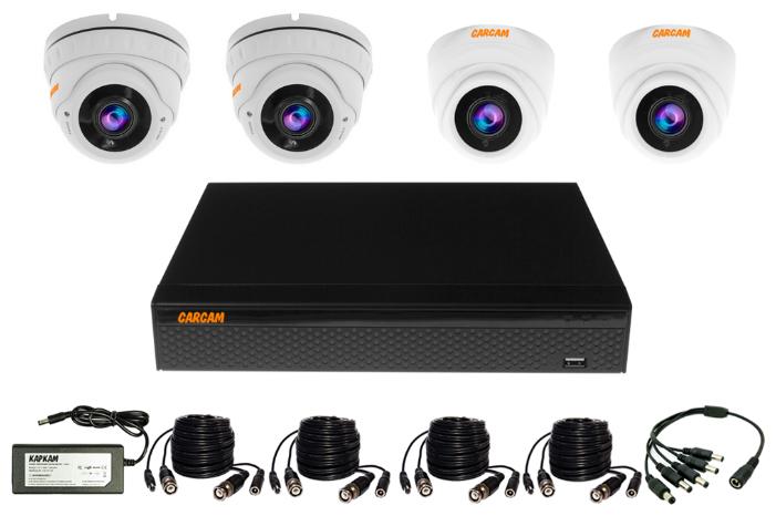 Готовый комплект видеонаблюдения CARCAM VIDEO KIT 5M-12 4 камеры