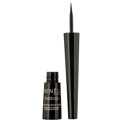 Купить Ninelle Стойкая глянцевая подводка для век Energia Long Lasting Glossy Eyeliner, оттенок 401 черный