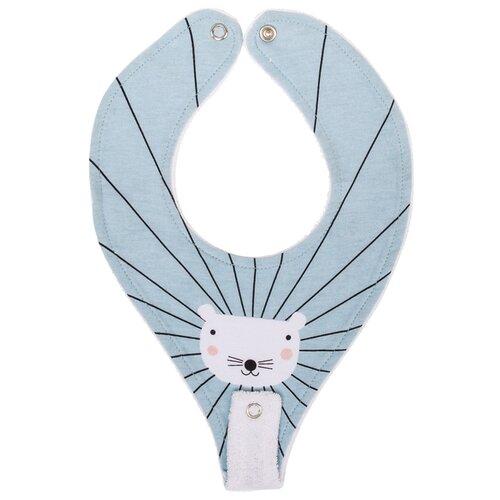 Happy Baby Нагрудный фартук с креплением для пустышки, 1 шт., расцветка: mouse